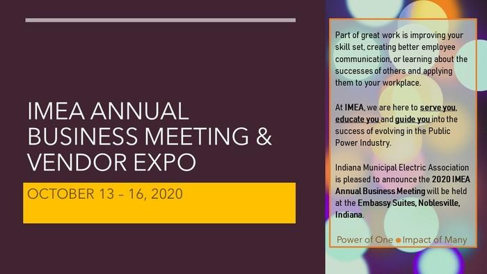 2020 Imea Annual Business Meeting Vendor Expo