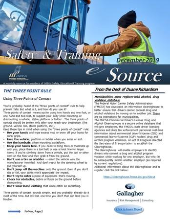 December Safety & Training eSource